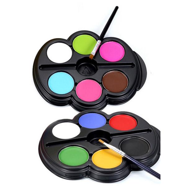 POPFEEL Body Paint 6 Couleurs Eye Paint Palette UV Rougeoyant Peinture de Tatouage Temporaire Pigment Meilleur Multicolore Série Corps Fard À Paupières Art