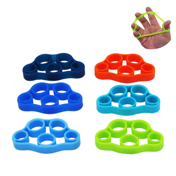 FDBRO Fitness Expander Stretcher Silicone Finger Hand Grip Finger Rings Grips Finger Training Equipment Durable Portable