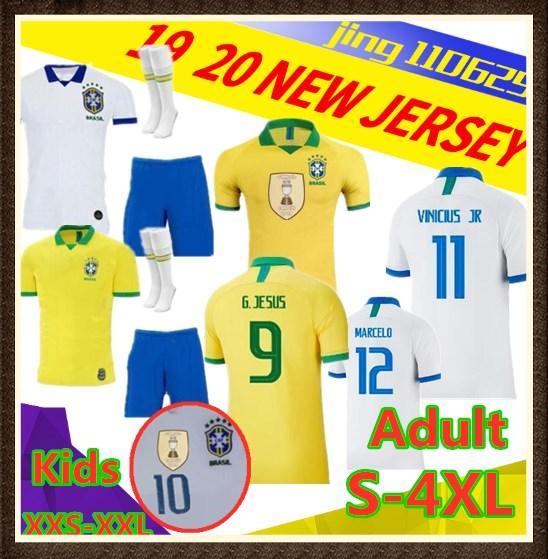 Neue 2019 Brasilien Amerika Cup Meister Patch Fußball Sweatshirt Herren Team Trikot VINICIUS FIRMINO Fußball Sweatshirt Fußball Weltmeisterschaft Cus
