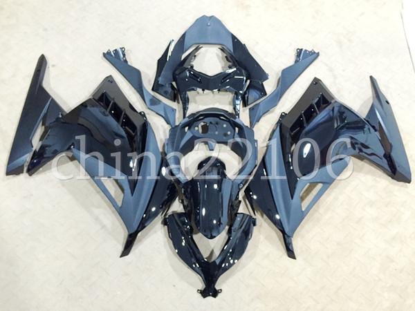 4 Nuova carenatura per moto ABS ad iniezione adatta per kawasaki Ninja 300 EX300 2013-2017 Ninja 300 13 14 15 16 17 set nero personalizzato