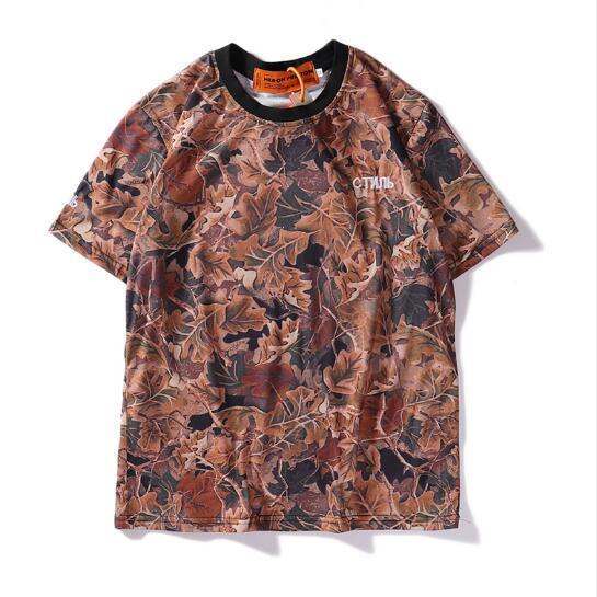 Erkek Tasarımcı Tshirt Sokak Moda Stil Marka 3D Yaprak Baskı Çift Kısa Kollu Tişört Erkekler ve Kadınlar Hip-Hop Tee