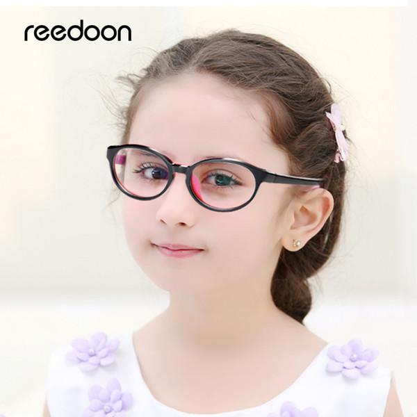 Reedoon kids Optical Eye Glasses Frame Ultralight Prescription Eyeglasses Plastic Titanium TR90 Frame Clear Lens For Boys Girls