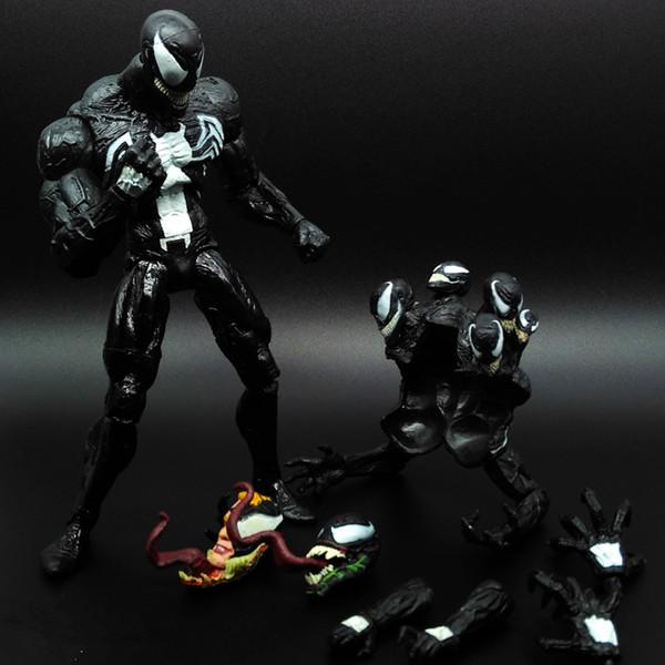 1 Adet SpiderMan Siyah Venom Ajanlar Ant-Man İnanılmaz Marvel PVC Action Figure Koleksiyon Avengers Hareketli Vücut Venom