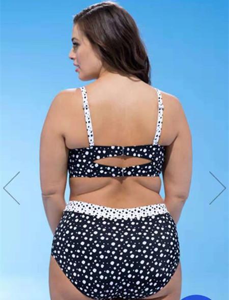 Womens bikini bathing suits jm Hot spring bathing suit female retro wave point bikini sexy large size split conservative slimming swimsuit