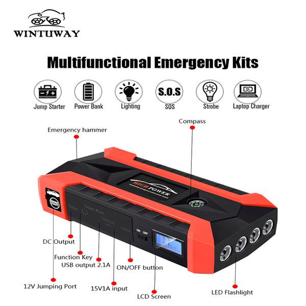 Portable Car Jump Starter >> 2019 Wintuway Multifunction Car Jump Starter 12v 4usb 1000a Portable Car Battery Charger Emergency Starting Power Bank Tool Kit From Miniputao