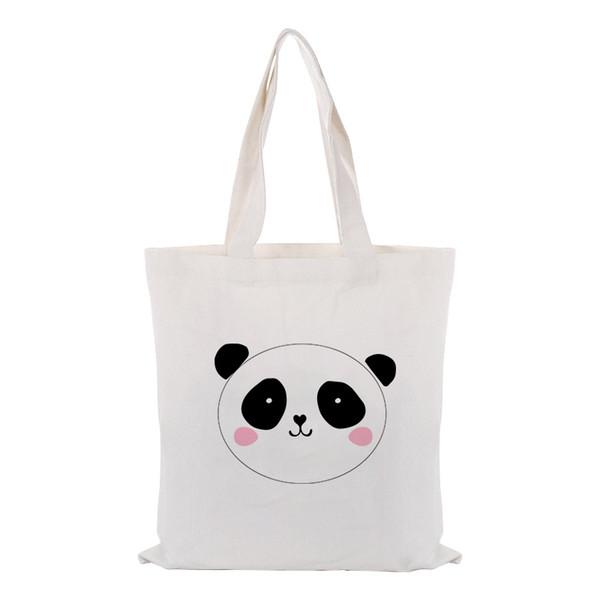 Sacola da lona do Saco de Compras ILUSTRAÇÃO Handbag Custom Logo Imprimir texto DIY uso diário Imprimir Eco reutilizável Recycle