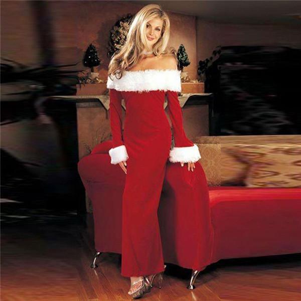 Paneles de navidad de piel para mujer vestidos ajustados Vestido de fiesta sexy de manga larga con cuello slash