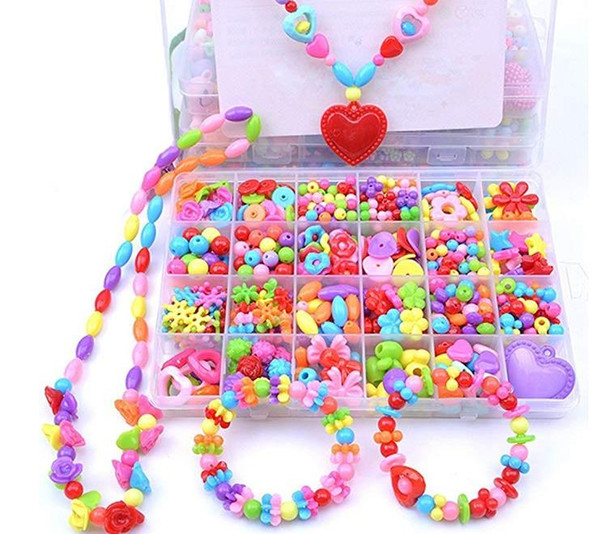 Regalos Hechos A Mano Para Ninas.Compre Kit De Fabricacion De Joyas Diy Colorido Pop Beads Set Creativo Regalos Hechos A Mano De Acrilico Cordon Atar Collar Pulsera Artesania Para