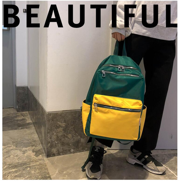 School bag female Korean version of high school canvas college students light ancient feelings girl campus wild backpack tide brand backpack