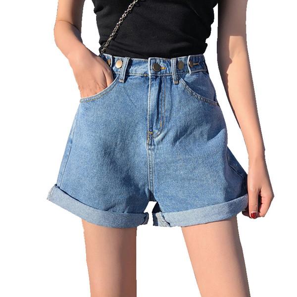 Vêtements pour femmes Shorts en jean d'été Harajuku taille haute poches style coréen Shorts décontractés Jeans Summer Hot Pantalon court fille
