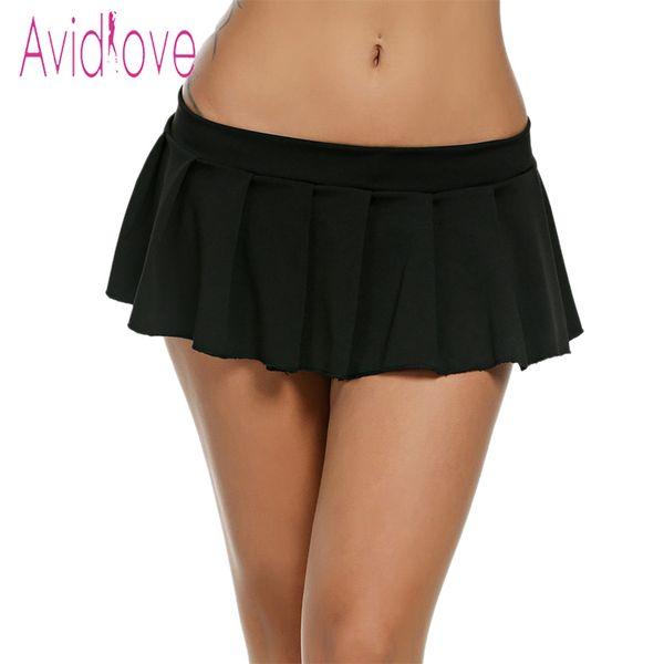 fe2bc6f9f wholesale Women Sexy Mini Skirts Casual Schoolgirl Sleepwear Micro Skirt  Sexy Summer Short Skirts Black White