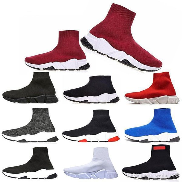Lime Green Sock Shoes Casual Shoe Speed Trainer High Quality Sneakers Speed Trainer Sock fashion luxury mens women designer sandals shoes