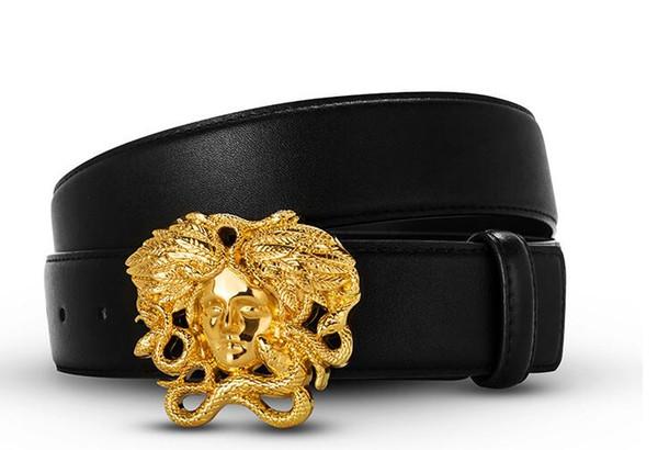 2019 Nouvelle mode Hommes d'affaires ceinture de designer ceinture de luxe Smooth Buckle Ceintures en cuir véritable pour hommes designer de marque Livraison gratuite