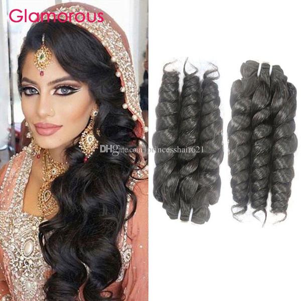 Glamorous Virgin Brazilian Hair Cheap Human Hair Weaves 3 Bundles Romance  Curly Indian Malaysian Peruvian Human 97b23d9f79