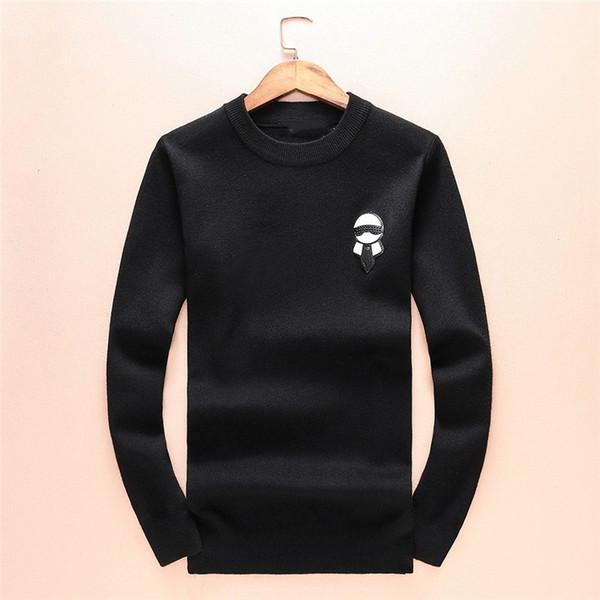 2019 Monster Sweater Мужская Марка Трикотаж Зимний Теплый Свитер Пуловер Кардиган Slim Fit Кашемир Мужская Толстовка