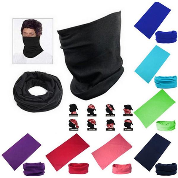 Men Women's Turban Magic Scarf Outdoor Sports Bicycle Riding Headband Bike Cycling Balaclava Neck Tube Warmer Bandanas Face Mask