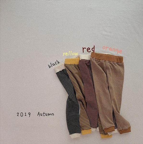 2019 Корея стиль оптовые девушки лосины осень хлопок моды девочек брюки 1-6t HX544