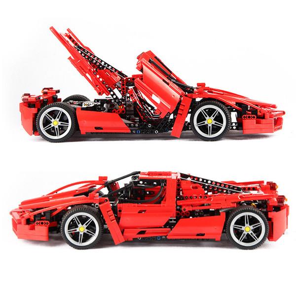 1359pcs Racers Ferrared Enzo Super Car 1:10 Scale Sports Car Enzo set fit 8653 Technic Legoings Building Blocks Bricks Toys gift T190918