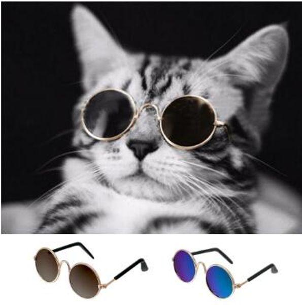 2pcs / комплект Мода Малый Pet Солнцезащитные очки Cat Уход Аксессуары Летняя Собака Кошка очки Защита глаз Носить щенок Кошки товары