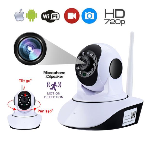Telecamera IP WiFi wireless LESHP 1280 * 720 HD Monitor per bambini domestici Monitor TF Card Audio Video Videosorveglianza Plug and Play