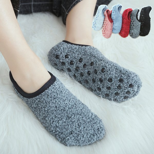 Spring And Autumn Floor Socks Anti Slip Adult Thickening Warm Shoes Indoor Carpet Women Socks Mix Color 5pair/lot