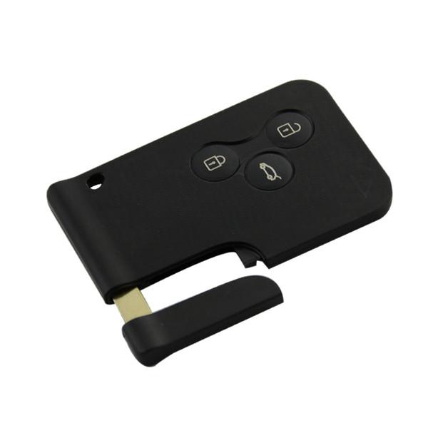 Auto 3 pulsanti Smart Remote Caso chiave di controllo Fob carta Shell per la Renault