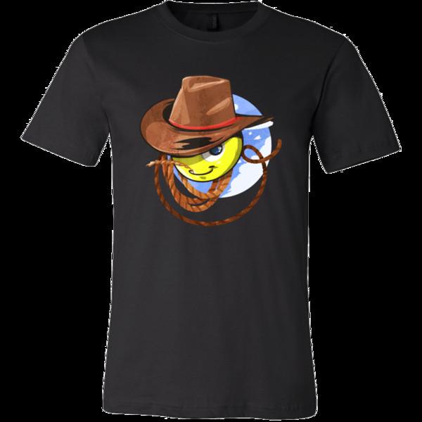 Kovboy Rodeo Yeehaw Emoji Karikatür Komik T-shirtjacket hırvatistan deri tişört