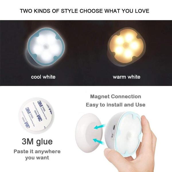lumière intelligente table de chevet lumière induction nuit corps humain usb charge conduit rotation créatif éclairage nocturne à domicile