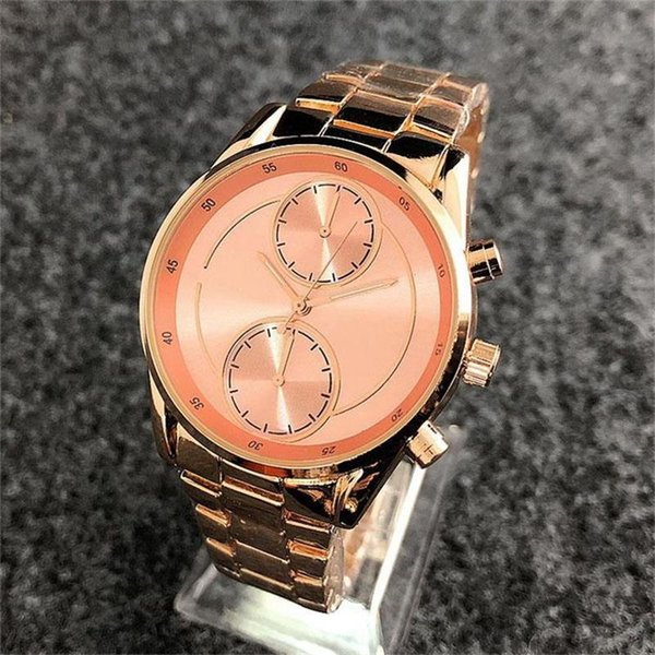 2019 Damenuhr Quarz Mode Damen Diamant Uhr Roségold Mode Qualität Stahl Gürtel Damen edle Uhr Designer Uhr