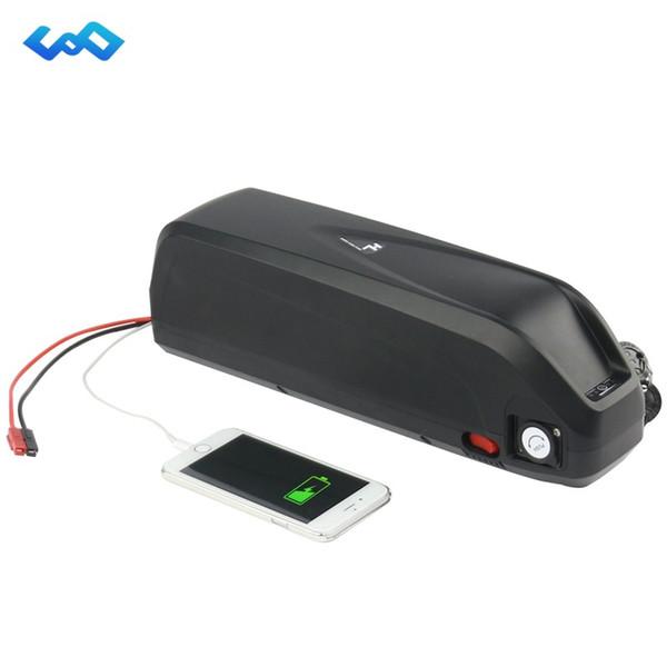 Nuevo Shark Case Batería 36V 16Ah Botella Paquete de baterías Bicicleta eléctrica Batería de litio Bafang E-Bike Batería + Cargador
