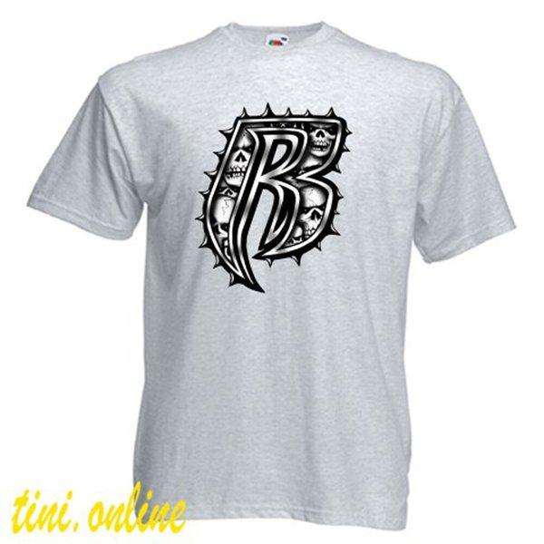 dos homens do logotipo New Ruff Ryders Rap Hip Hop Grupo Grey T-shirt do tamanho S a 3XL