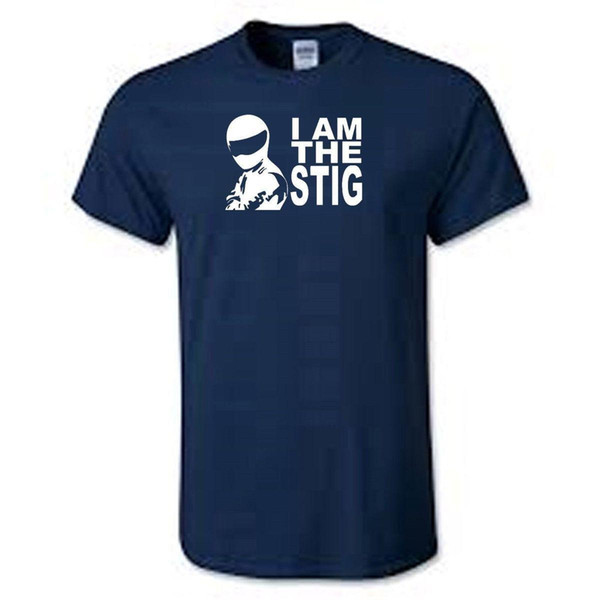 Je suis le Stig Top Gear T-shirt Cool T-Shirts Designs Meilleure Vente Hommes de Haute Qualité Casual Impression Tee Couleur Unie