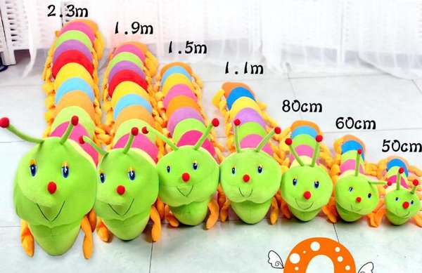 factory direct Stuffed Animals Plush Toys Cute colorful caterpillar pillow caterpillar plush toy children plush toy cushion children doll