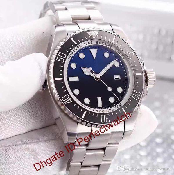 top popular Luxury WATCHES Original116660 Blue Ceramic Automatic Watch Stainless steel sapphire glass Bracelet Fashion Men's Watch 2019