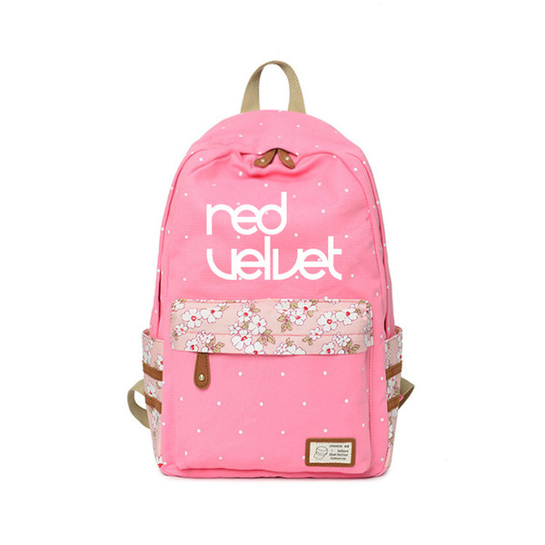 kpop group Red Velvet Backpack Canvas School fashion Bag High Quality travel Customize for teenagers Children's Day Gift