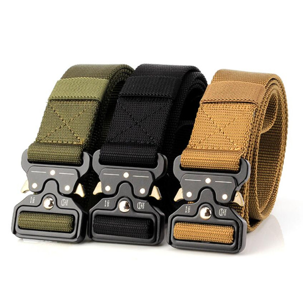 9 Color Tactical Gear Heavy Duty Belt Nylon Metal Buckle Swat Molle Padded Patrol Waist Belt Tactical Hunting Accessories Outdoor military