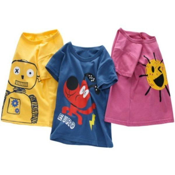 top popular Kids Designer T-Shirts 2020 Print Luxury Child Tops Tees Summer Fashion Clothing Boy Girl Designer T-shirts 2021