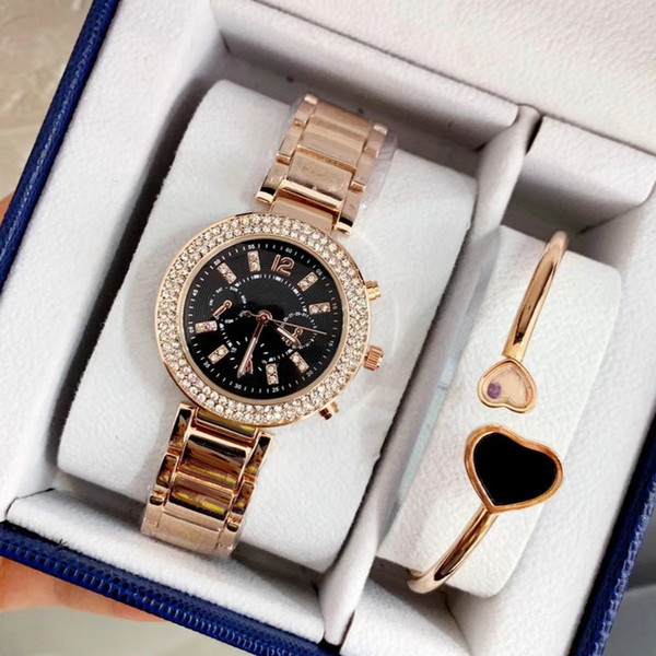 Marca Michael Reloj de Cuarzo Señoras de Oro Relojes de Pulsera de Moda de Acero Inoxidable Diamante Reloj de pulsera Mujer Reloj Horas relogies