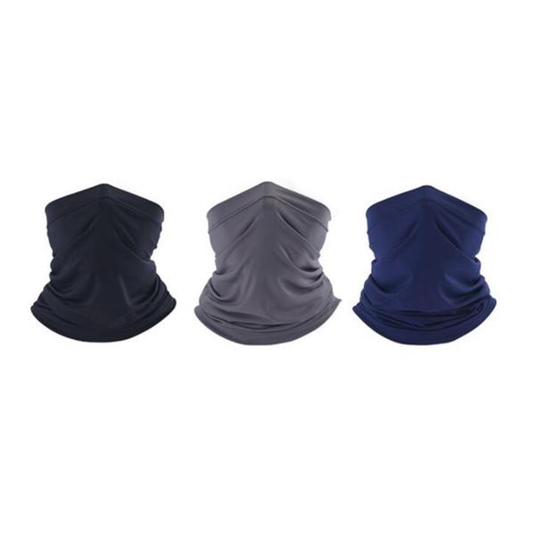 Unisex Fashion Ice Silk Muffle Plain Riding Equipment Outdoors Sunscreen Mask Scarf