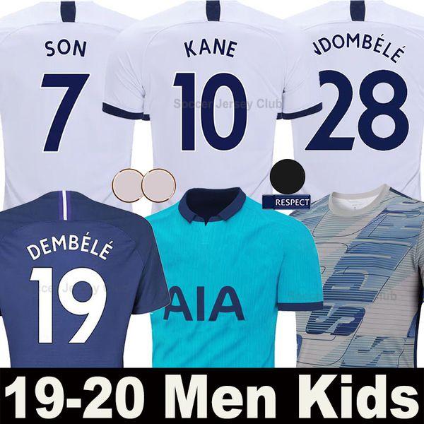 Tottenham Hotspur Camiseta de fútbol SPURS 18 19 20 LUCAS soccer jersey hombres mujeres niños shirts LLORENTE 2019 2020 KANE SON ERIKSEN LAMELA DELE calidad superior de Tailandia