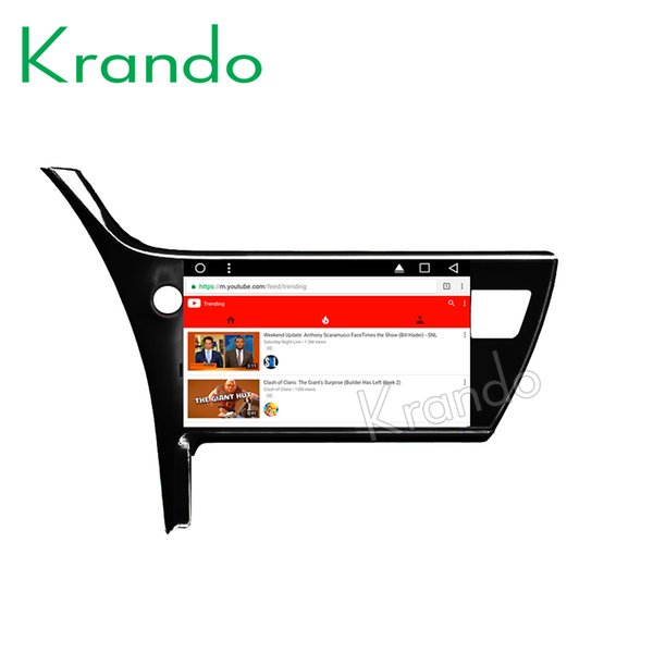 "Krando Android 8.1 10.1"" IPS Touch screen CAR DVD multimedia system for TOYOTA COROLLA 2017 radio palyer gps navigation wifi"
