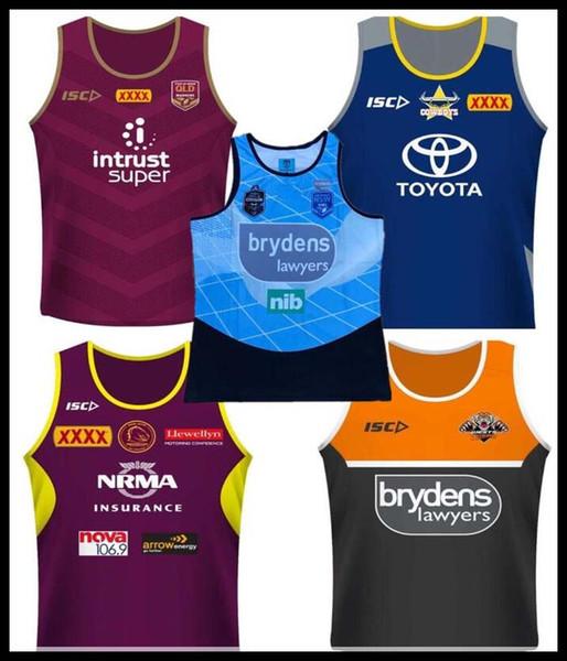 2018 Cowboys Wests Tigers Brisbane Broncos Maroons camisetas de rugby Singlet Nueva Gales del Sur Blues Estado NRL Liga nacional camiseta nrl