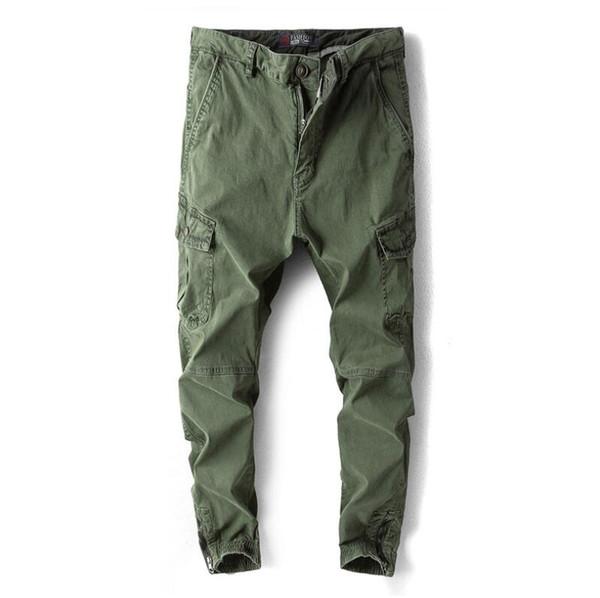 Spring Casual Track Pants Designer Beamed Japanese Harem Pants Tide Solid Color with Multi-pocket Wild Uniform Pants