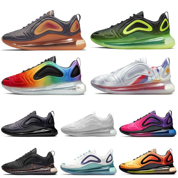 Nike Air Max 720 720 s tênis de corrida para as mulheres dos homens triplo preto branco mar floresta cinza carbono total eclipse 72c athletic tênis de esportes ao ar livre 36-45