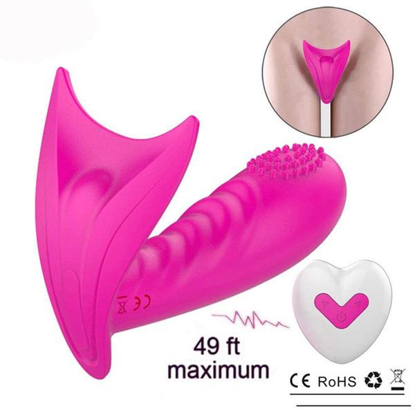 Danceyi télécommande sans fil porte papillon saut fille d'oeuf avec la masturbation massage point G chatte sexy licky av326