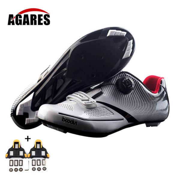 Boodun Transpirable Pro Autoblocante Zapatillas de ciclismo Zapatillas de bicicleta de carretera Zapatillas Ultraligeras para atletismo deportivo Zapatos Ciclismo