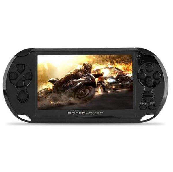 8 Go X9 jeu portable lecteur 5 pouces grand écran portable Console de jeux Lecteur MP4 avec caméra TV Out TF Vidéo meilleure vente
