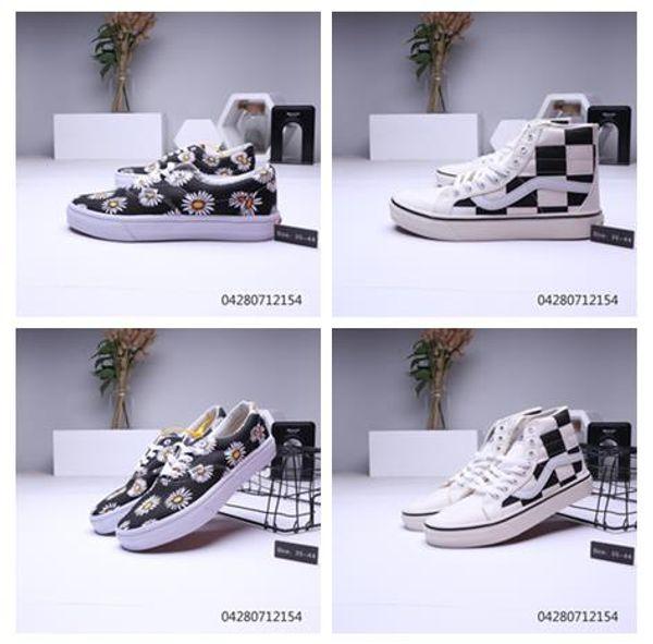 Promoção de vendas Produto qualificado Phantom Checkerboard Sapatos casuais Sapatos interiores Sapatos masculinos Minhas Tops baixos para homens e mulheres Sapatilhas interiores