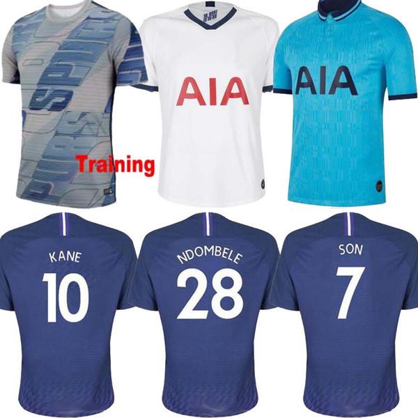 New Thailand Men Kane Soccer Jersey Spurs 2019 2020 Lucas Eriksen Dele Son 19 20 Kit De Camiseta De Futbol Ndombele Uniformes Equipos Tops Por