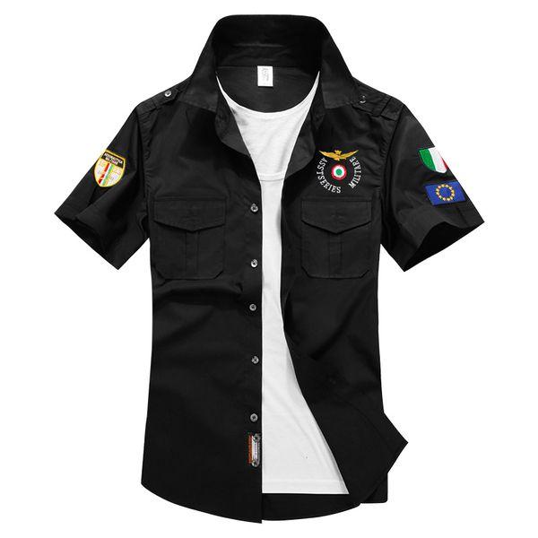 Klasik Erkek Gömlek 2019 Yeni Yaz Moda Chemise Homme Erkek Damalı Ma01 Gömlek Kısa Kollu Gömlek Erkek Bluz 1617